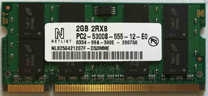 Netlist 2GB PC2-5300S 667MHz
