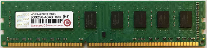 Transcend 4GB PC3-12800U 1600MHz