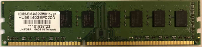 Unifosa 4GB PC3-10600U 1333MHz