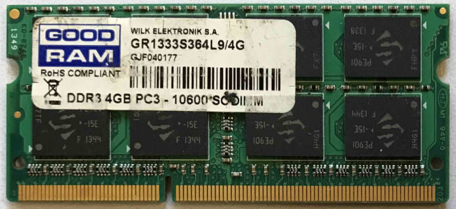 GoodRam 4GB PC3-10600S 1333MHz