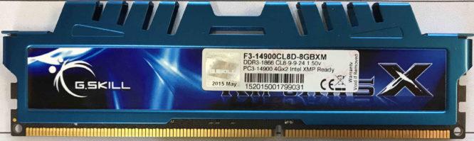 G.Skill 4GB PC3-12800U 1600MHz