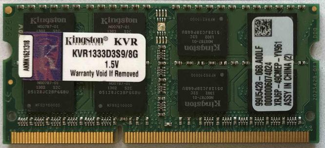 Kingston 8GB PC3-10600S 1333MHz