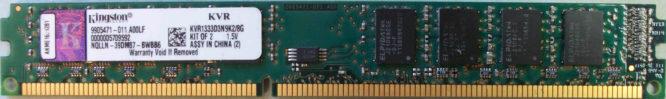 Kingston 4GB DDR3 PC3-10600U 1333MHz