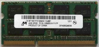 Micron 4GB PC3L-10600S 1333MHz
