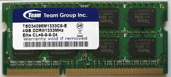 Team Group 4GB PC3-10600S 1333MHz