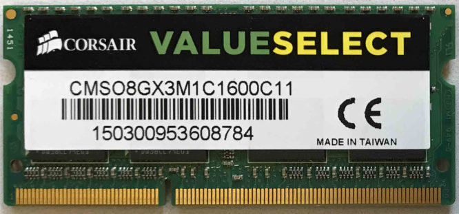 Corsair 8GB PC3L-12800S 1600MHz