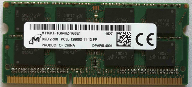 Micron 8GB PC3L-12800S 1600MHz